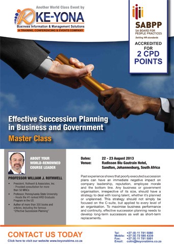 EffectiveSuccessionPlanning-Spkr
